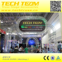 Circle round light exhibition booth truss floor system