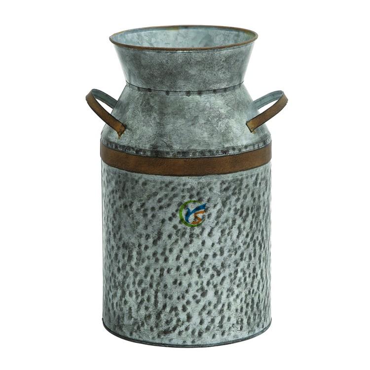 Decorative Antique Galvanized Milk Can