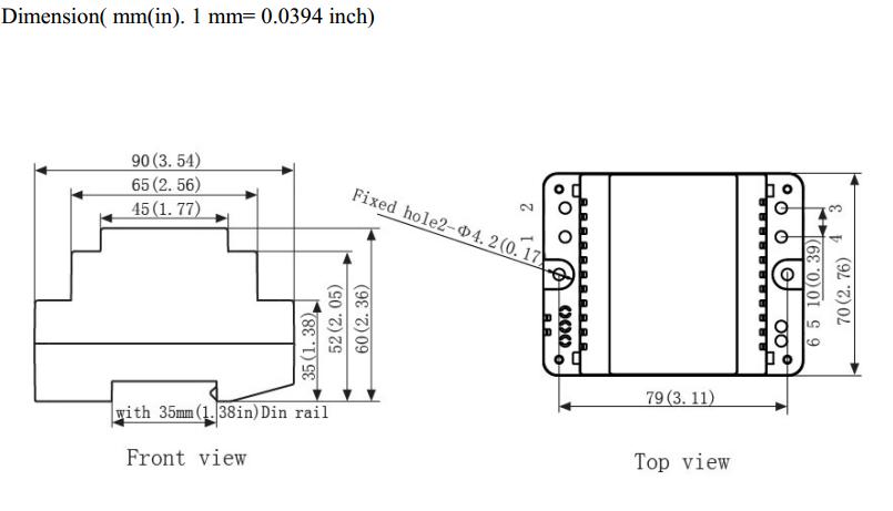 30va 220 volt  u00c0 12 volt 15 volt rail din puissance ac