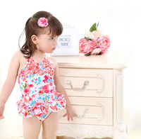BC1026 High end skin-friendly children's swimsuit children little girl baby cute floral printed swimsuit hot spring beachwear