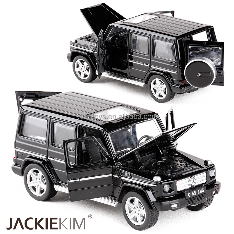 Mini AMG G55 Diecast Metal Car Toy 1:32 Scale G65 Pull Back Alloy Car Flashing Music Auto Model Collection Car for Boy