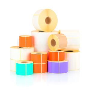 Self Adhesive Label Roll Plastic Film Custom Printed Thermal Transfer Label