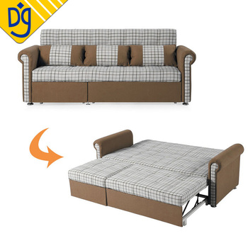 Modern Furniture Designs European Brown Fold Out Sofa Cum Bed