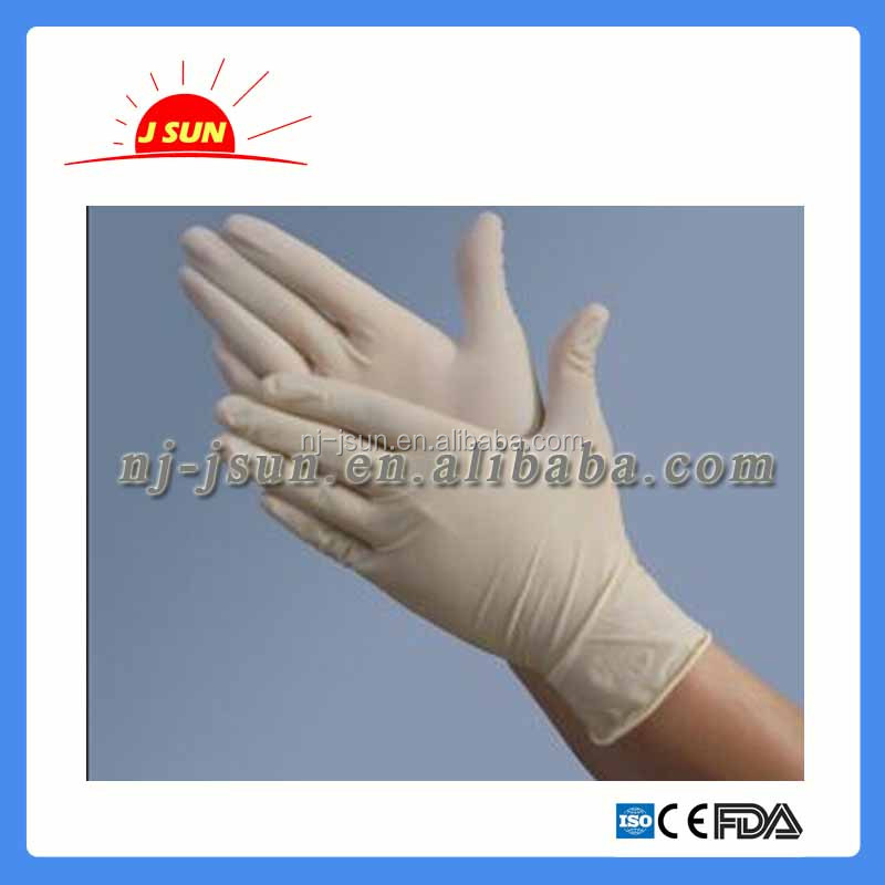 Hot-sale and high quality latex surgical examination gloves