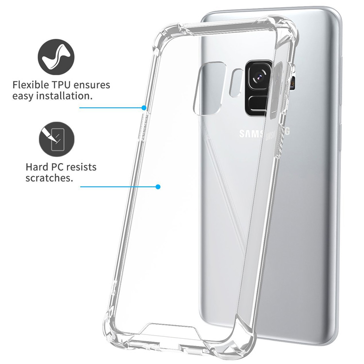 best sneakers 35021 4bd26 Shockproof Pc Tpu Clear Case For Samsung Galaxy S9,Transparent Pc Back  Cover Phone Case For Samsung S9 - Buy Shockproof Clear Case For Samsung  Galaxy ...