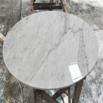 Custom Cut Marble Table Top For Carrara White Stone
