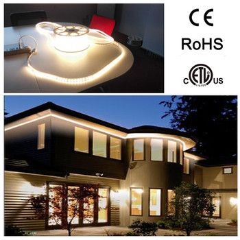 120v 220v Ce Etl Waterproof Ip67 Led Strip 50m 60leds Outdoor Light Driveway Lighting