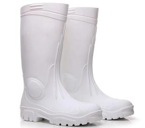 2017 safety knee PVC plastic white industrial working rain boot mens