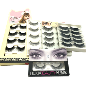 Wholesales 3pairs/box Custom Package Natural Looking Soft False Eyelashes Silk Lashes