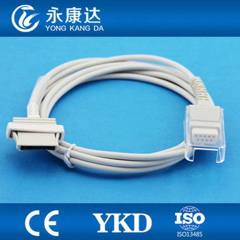 Nonin 9700,9600 spo2 sensor extention cable, 8pin for DB9 F,spo2 sensor adapter