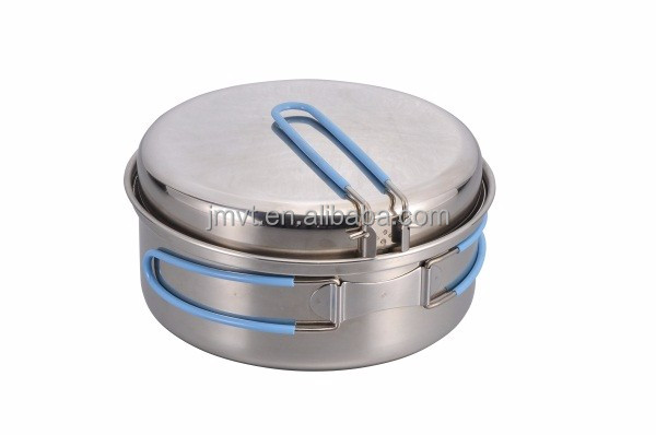 Stainless Steel Camping Cookware Outdoor Durable Mess Kit Sale