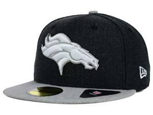 157720f57e974 Get Quotations · New Era NFL Denver Broncos Heather Action 2 Tone Fitted Cap  59fifty NewEra