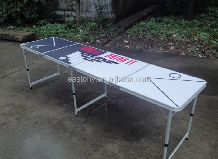 Red Cup Pong Portable Beer Pong Folding Table Beirut Game Table   8 Ft Beer  Pong