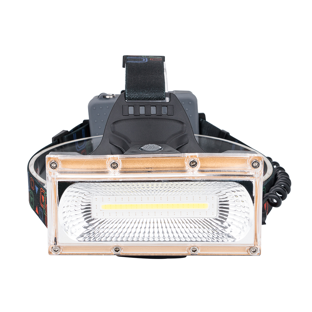 COB LED Đèn Pha High Power LED Đèn Pha Cắm Trại Head Torch 3 Chế Độ Đầu Đèn Lồng 3x18650 Có Thể Sạc Lại Phía Trước Đèn Pha
