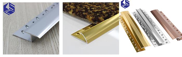 carpet cover strips aluminum edge carpet trim with gripper