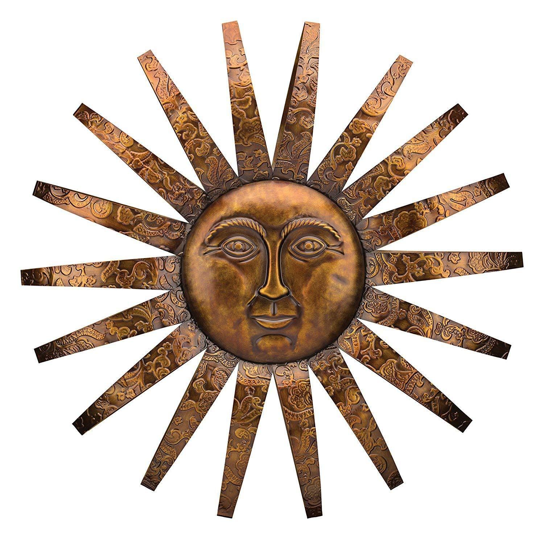 Get Quotations Wonders Outdoor Indoor Accent Metal Sun Decorative Wall Art For Garden 34 Inch