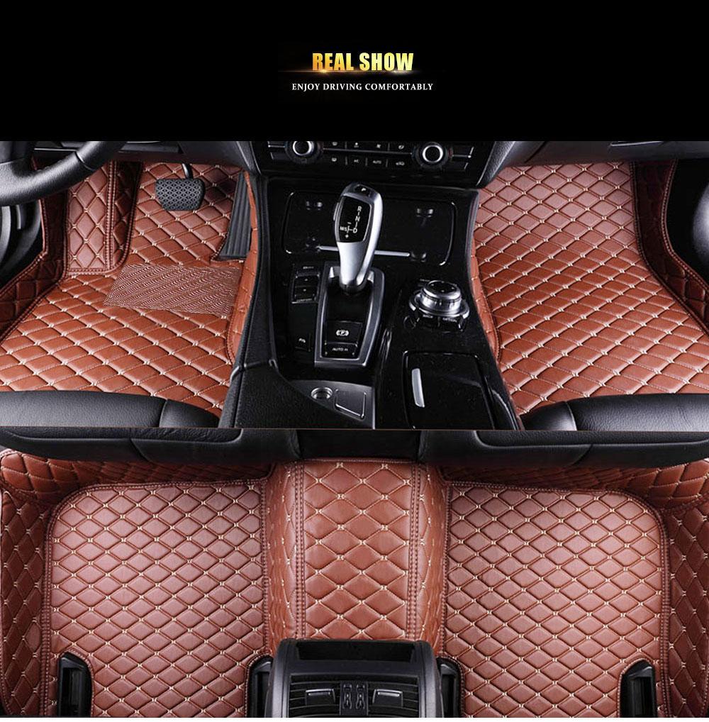 Brown Luxury Leather 5d Car Floor Mats Buy Brown Car Floor Mats