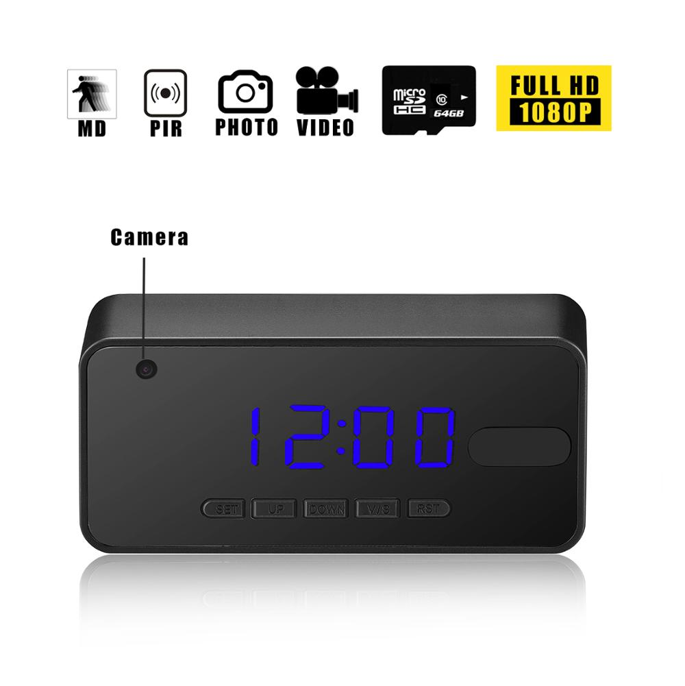 PIR hidden camera clock long time recording FullHD 1080p night vision digital camera auto IR