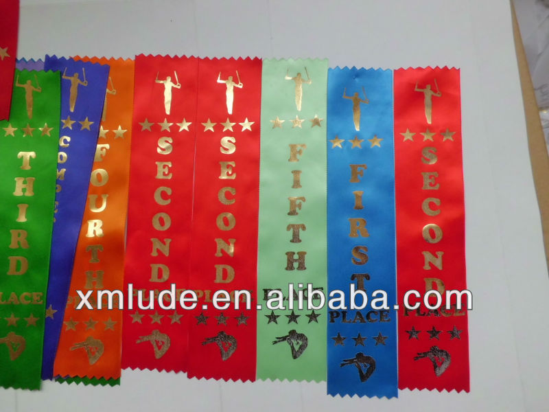 2013 New Design Paw Print Place Dog Show Ribbons