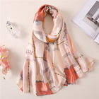Wholesale 2019 newest personalized silk scarf fashion luxury print female magic silk feel scarf