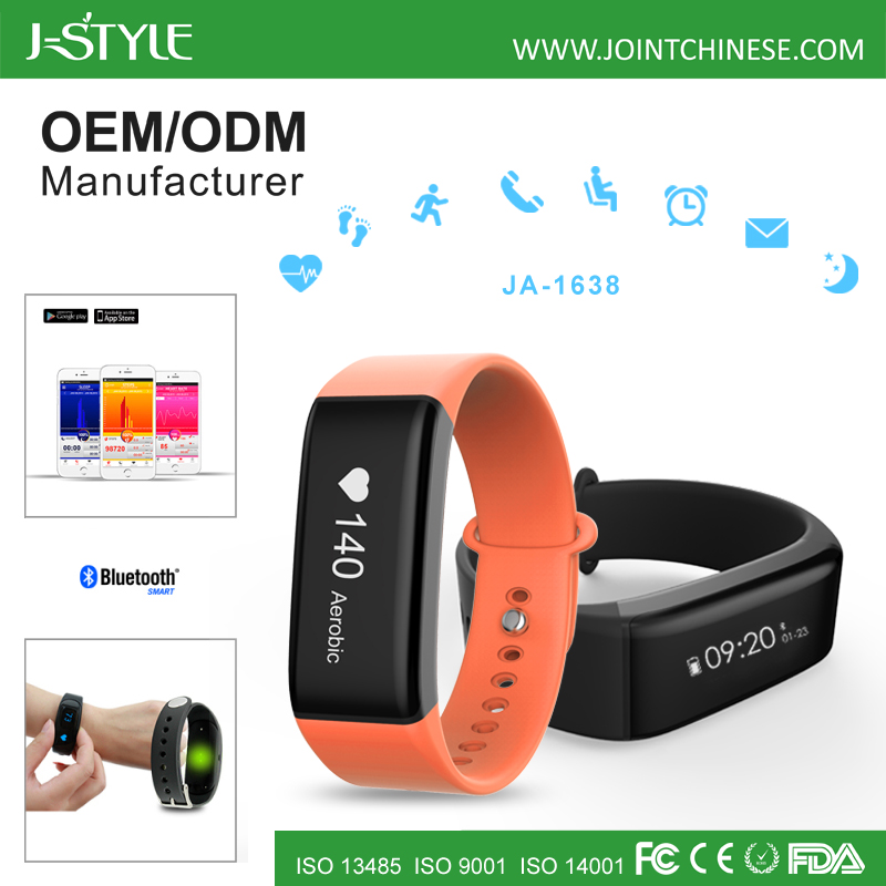 J-style Fitness Activity Tracker Bluetooth Fit Bit Band Heart Rate Monitor Wristband