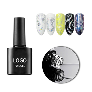 Best Quality 8ML Print Logo Transparent Color Nail Sticker Polish Uv Transfer Foil Gel