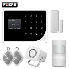 Fuers Nieuwste One-Touch Bellen App Controle Real-<span class=keywords><strong>time</strong></span> <span class=keywords><strong>Status</strong></span> Display Smart WIFI GSM Home Security Alarm Inbreker systeem