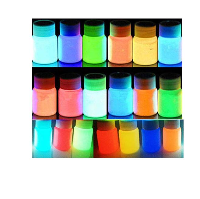 Üretici floresan fotolüminesan karanlık sprey boya pigment/işıltılı toz/parlayan mürekkep