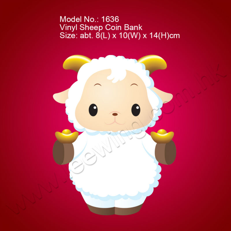 plastic sheep coin bank new year gift - 2015 Chinese New Year Animal