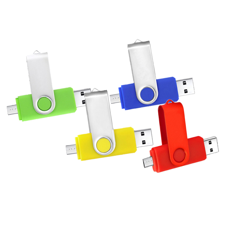 Bulk Cheap High Speed Swivel Otg Usb <strong>Flash</strong> Drive 2 in 1 Otg Usb Memory Stick For Android Mobile Smart Phone