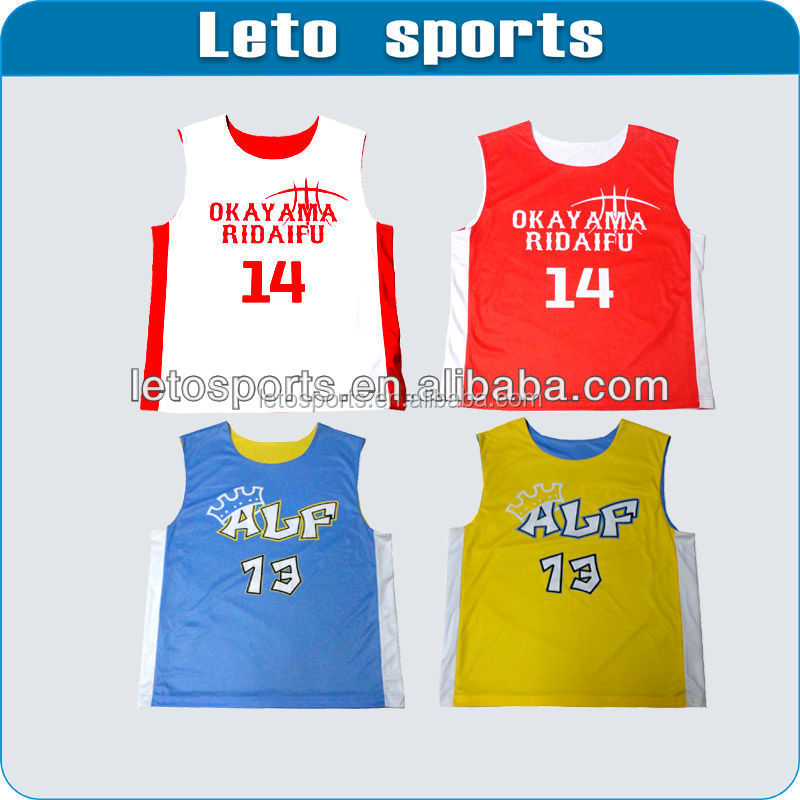 Bulk order customizable & reversible basketball jerseys for your league