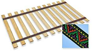 New Twin Size Custom Width Bed Slats with a Navajo Themed Fabric Roll - Choose your needed size - Eliminates the need for a link spring or box spring!