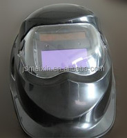 black colour with front protection mirror pp material auto darkening welding helmets