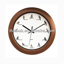 round plastic wall clock wtih 12 music hourly