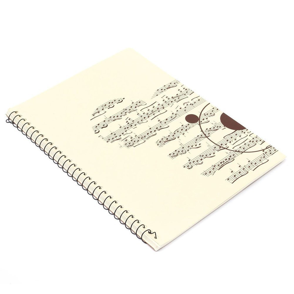SODIAL(R) 50 Pages small Bear Musical Sheet Manuscript Paper Stave Notation Notebook Spiral Bound