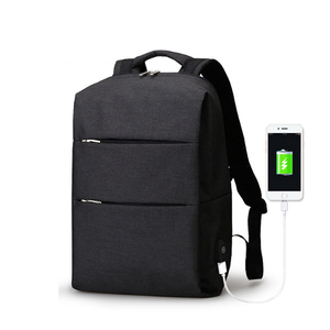 Free sample waterproof computer bag USB charging port laptop backpack