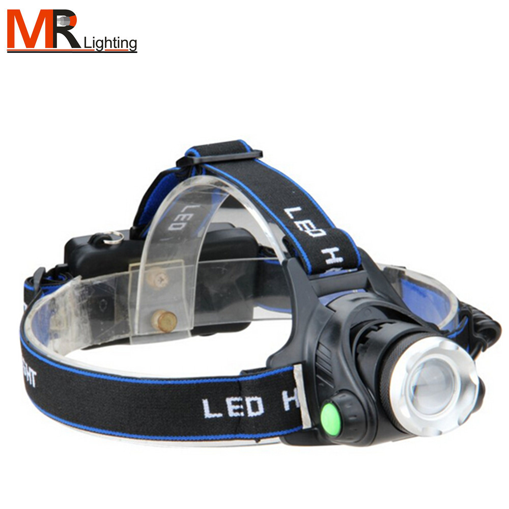 High Power LED Headlamp 3800lm XML T6 Rechargeable 18650 Battery Zoom Headlight Head headlamp