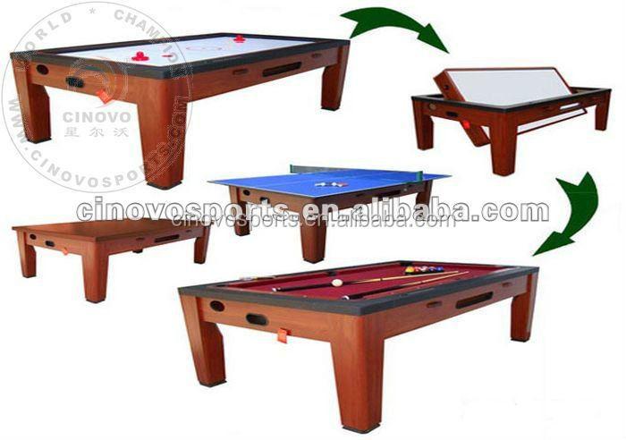 Multi gioco da tavolo giro attorno al tavolo da biliardo air hockey tavolo tavolo da pranzo for Tavolo da biliardo trasformabile in tavolo da pranzo