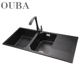 Easy To Clear Commercial Sink Black Customized Quartz Stone Kitchen Sink  For Kitchen - Buy Cheap Sink Kitchen For Kitchen Anti-scratch Cheap Solid  ...