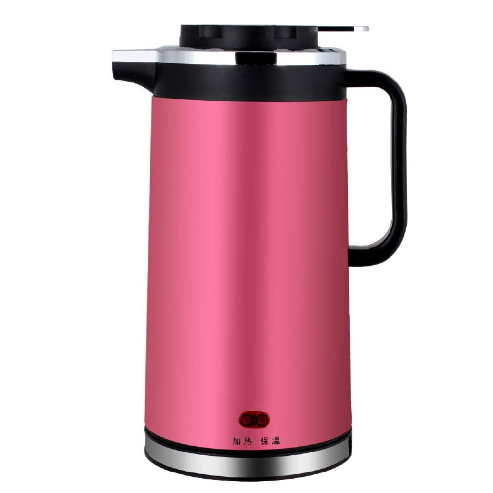 ZHANGM Electric Kettle Stainless Steel Double Wall Vacuum Insulated, Keep Hot Thermal Pot, Electric Kettle Stainless Steel Tea Kettle,Pink_1.8L