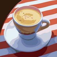 love coffee - Diy oil painting by numbers