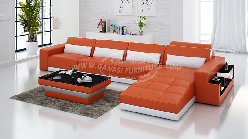 leather corner sofa reclining living room sofa living room Microfiber Sectional Sofa TV Room TV Room Seating
