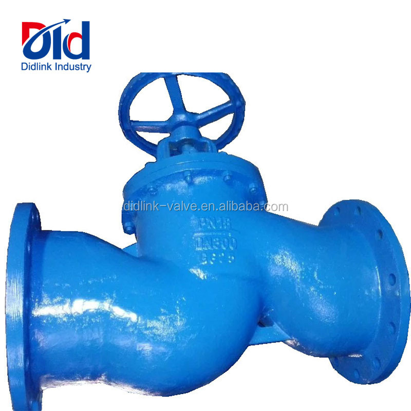 Proper Price DN300 PN16 GG25 Cast Iron Angle Gost With Flanged Y Type Strainer Globe Valve For Oil Pipelines