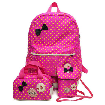 Fashion Cute Girls Kids Children School Bags Backpacks 3pieces Sets