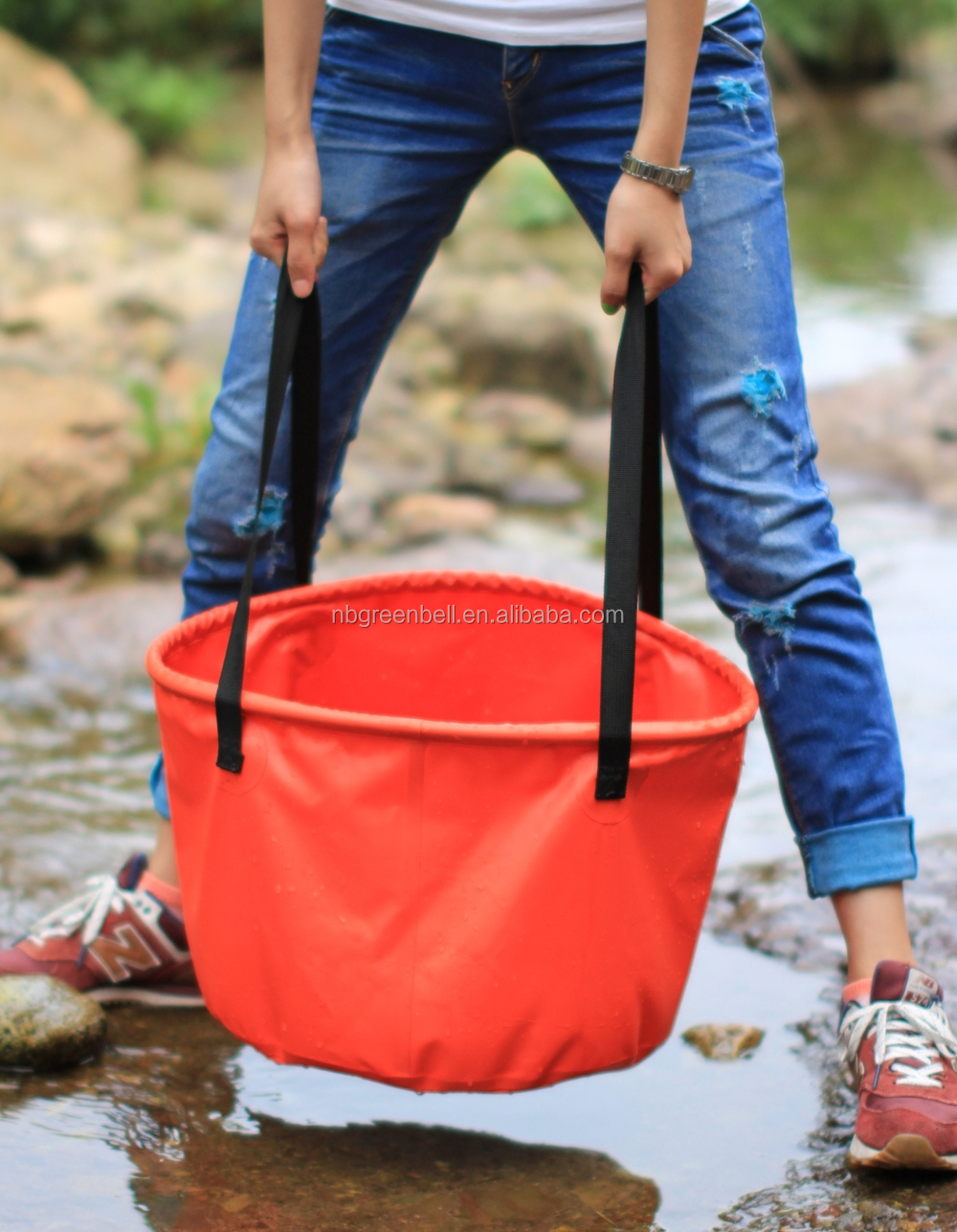 portable and durable PVC water barrel for fishing