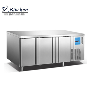 Embraco compressor monoblock cooling system 60mm thickness insulation 250L 330L 430L three doors under counter freezer