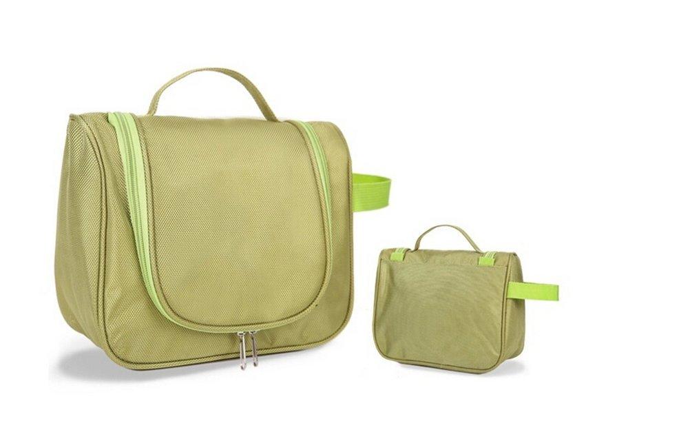 DuShow Travel Cosmetic / Makeup Bag Waterproof Wash Bag/ multifunctional Portable Hanging Toiletry Bag/ Portable Travel Organizer Bag for Women (Green)