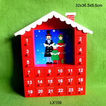 Christmas Countdown Advent Calendar, Wooden Xmas Gifts