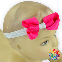 Newborn Photography Prop Glitter Band Hair Bands Elastic Toddler Girls Baby Headband With Bow