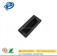 High Quality Black ABS Embedded Square Industry Equipment Cabinet Door Plastic Handles